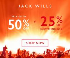 《JACK WILLS 優惠》- 全場減價貨品加碼低至5折優惠