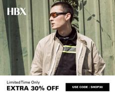 《HBX 優惠》- 正價貨品即享7折優惠(優惠至19年5月28日)