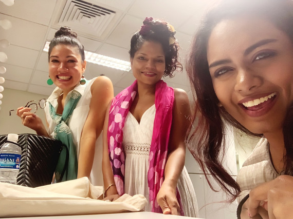 Rose with Sharda and Sangeetha before Skit Performance