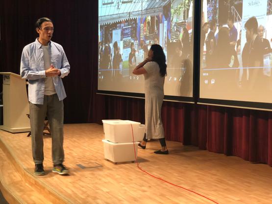 Lian Sutton and Sangeetha perform skit .jpg