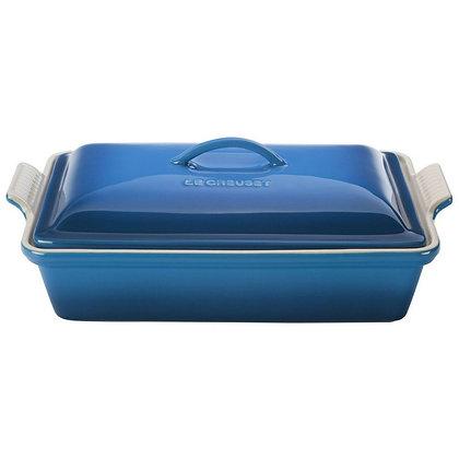 Heritage Covered Rectangular Dish 33 - Marseille Blue
