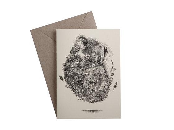 MW Marini Ferlazzo Greeting Card Koala Friends