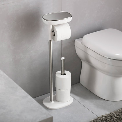 Easy-Store Toilet Paper Stand - Steel