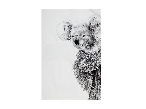 MW Marini Ferlazzo Wildlife Tea Towels 50x70cm Koala On Gum