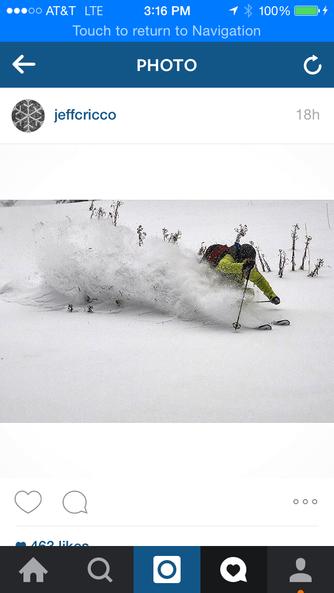 ski, ski, drive, work, hope to ski.