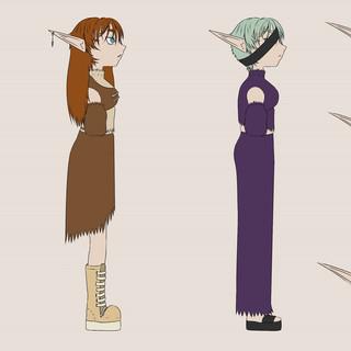 Characters turnaround