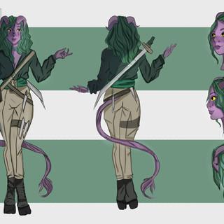 Tialia Character Design concept art