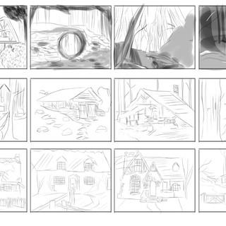 Thumbnails for concept art