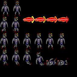 Dark War enemy character pixel art