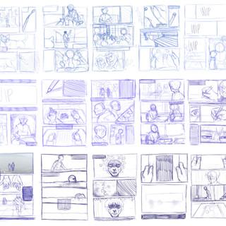 Dear Me graphic novel thumbnail plan