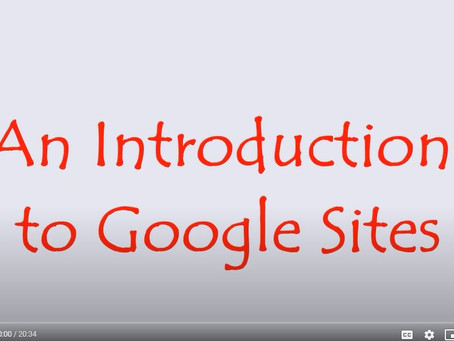 New YouTube Videos for Google Slides and Google Sites