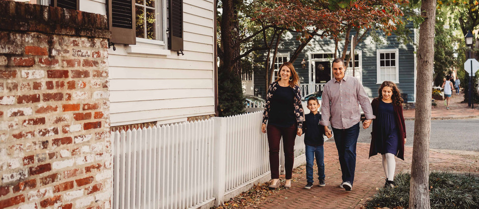 Family Session in Old Town Alexandria | Northern Virginia Family Photographers