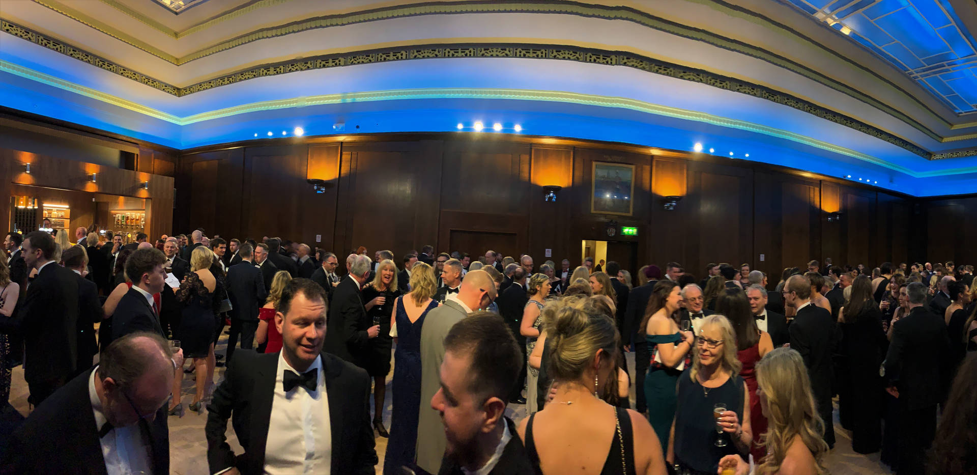 Panoramic View of Champagne Reception at King's Hall, Stoke