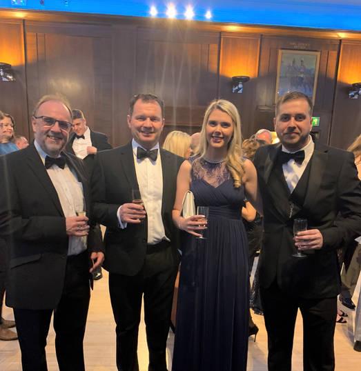 Garry Culverwell (Engineering Manager), Dave Elms (Group Business Improvement Director), Katie Walker (PR & Marketing Manager), William Edge (Apprentice)