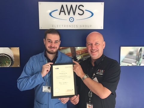 William Edge Andy Franks Holding Apprenticeship Certificate