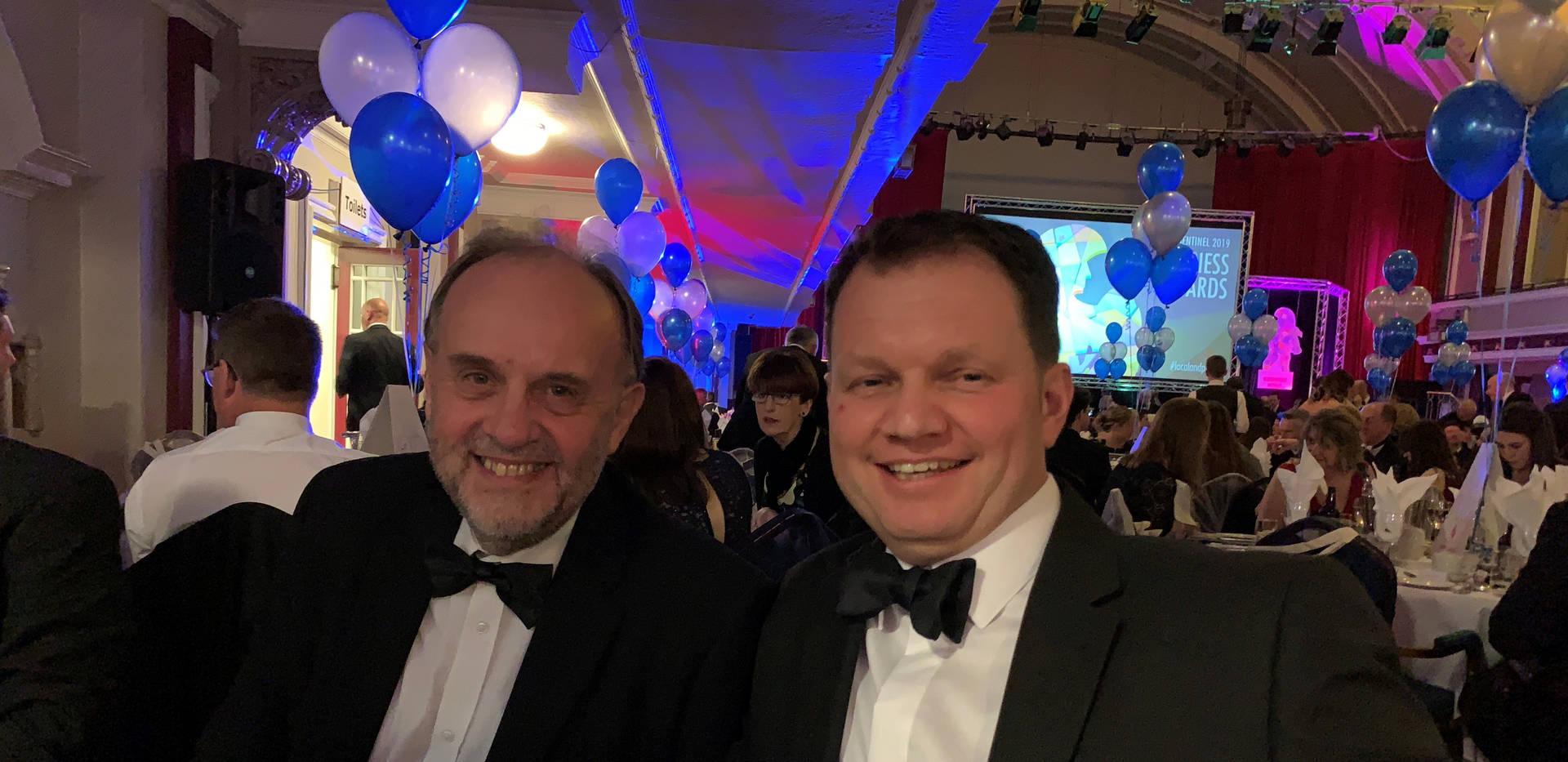 Garry Culverwell (Engineering Manager), Dave Elms (Group Business Improvement Director) at Table