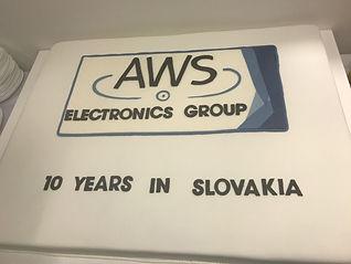 10th Anniversary AWS Slovakia Factory Cake