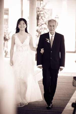 Brautvater mit Braut