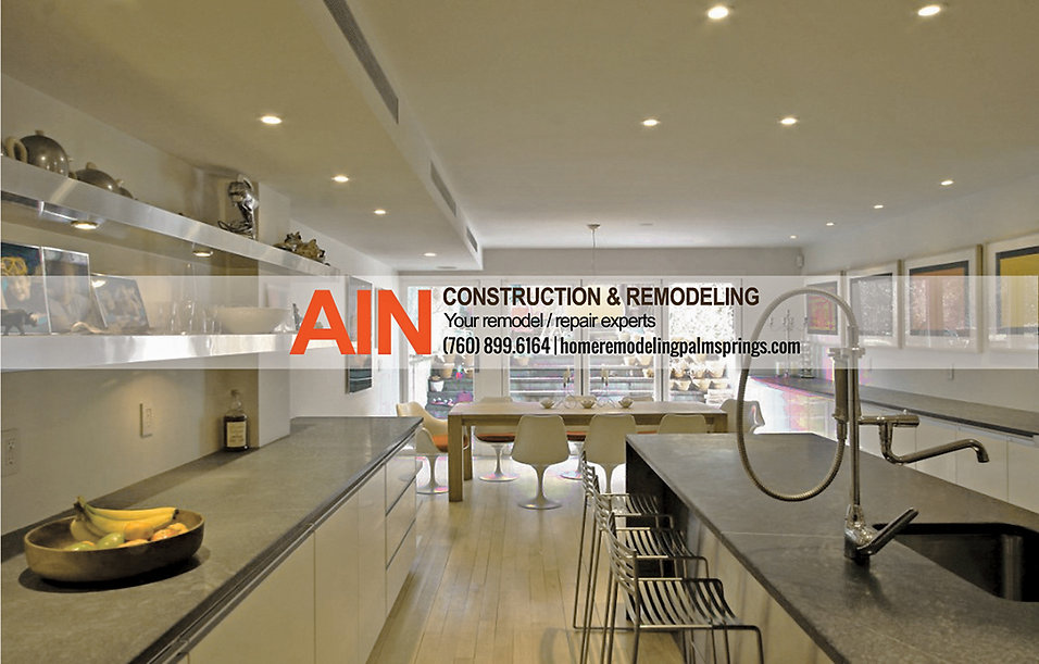 kitchen designers remodlers in palm springs, coachella valley, contractor AIN Construction