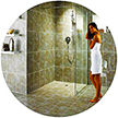 AIN Construction is a full service shower remodeler, hot mopping, liner, pre-fab shower installation, design, tile installation
