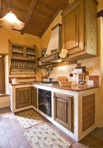 Fienile, cucina con forno e lavastoviglie