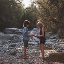 amicizia, contatto, natura