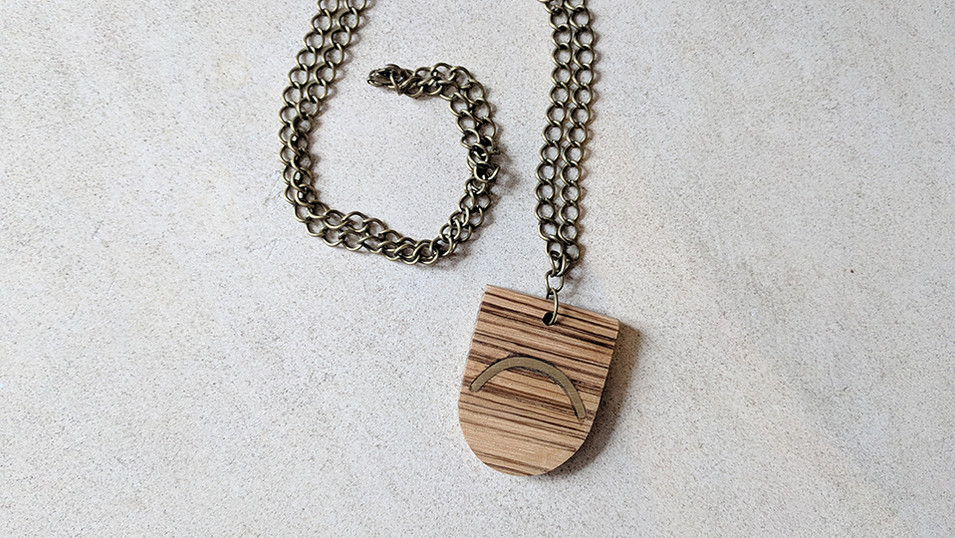 CopperMoth-D-Shaped-Necklace