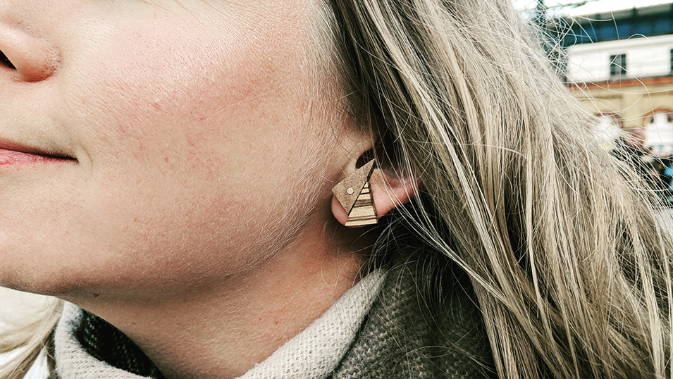 CopperMoth-triangle-earrings