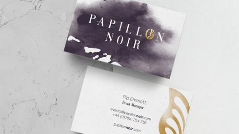 Papillon Noir   Visual Identity and Website Design