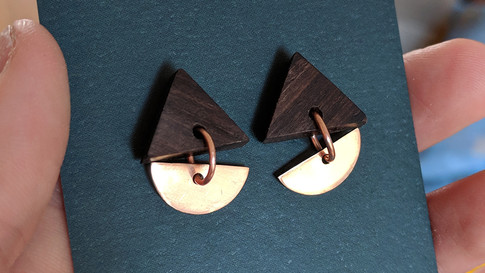 CopperMoth-Triangle-Drop-Earrings