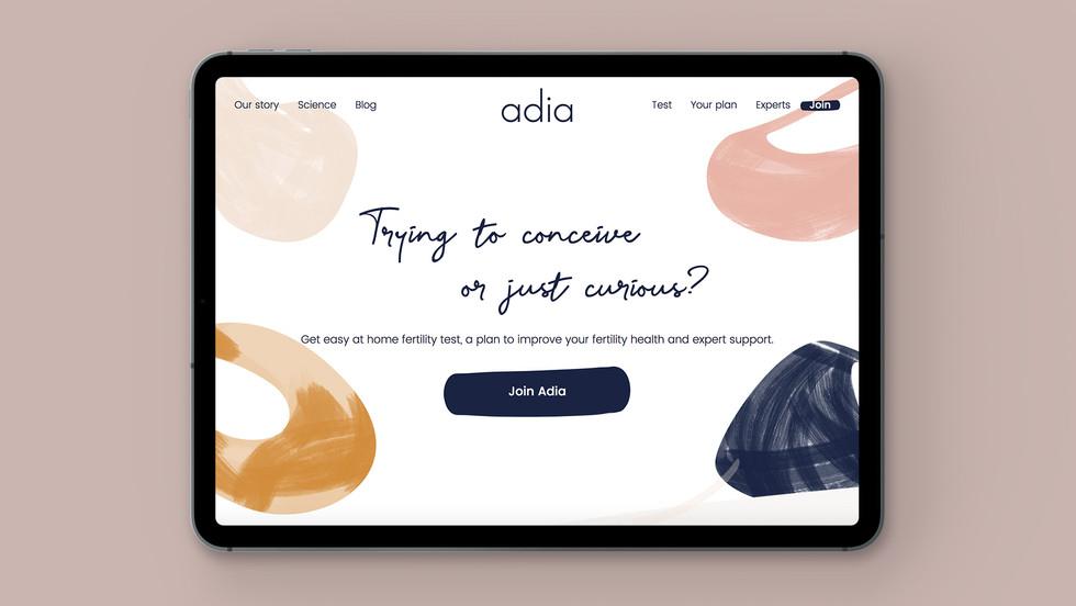 Adia Website Homepage
