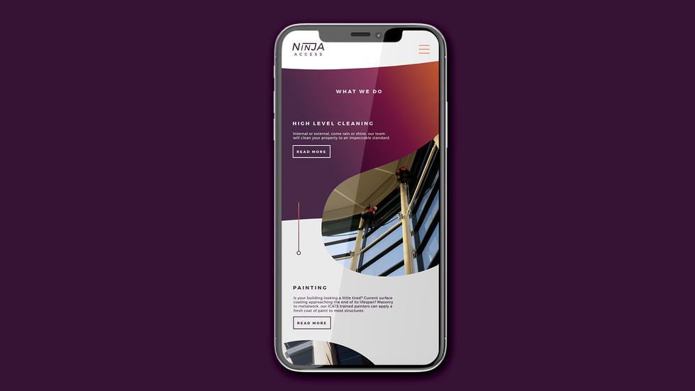 Ninja Access Mobile Site Design