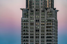 Chrysler Building, abstract, sunset in NYC