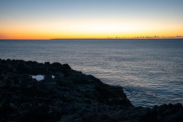 Sunrise on the Cutler Coast