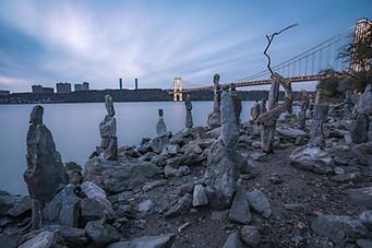 Rock Sculptures on the Hudson