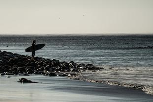 Surfer on Long Beach