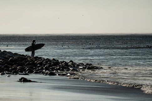Surfer on Long Beach