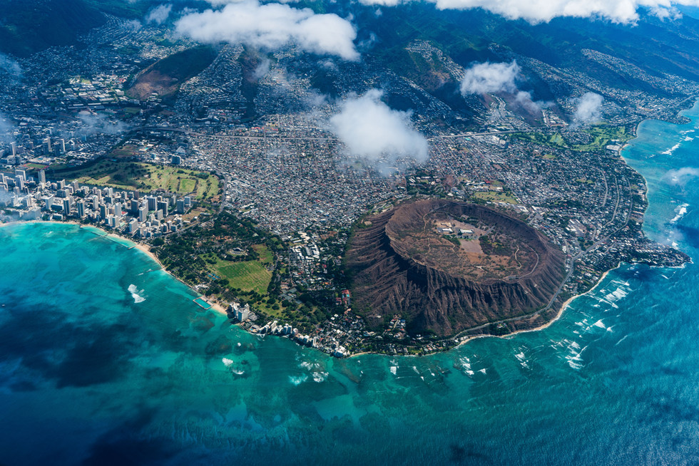 Ariel view of Waikiki