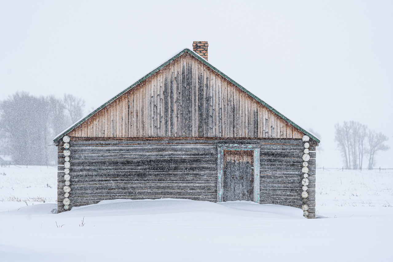 The Barn in Flurries