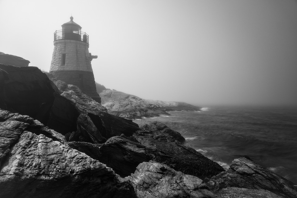 Castle Hill Lighthouse in Fog