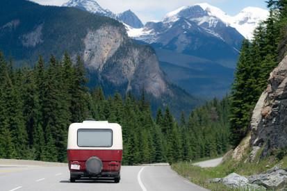 Retro Trailer in Banff