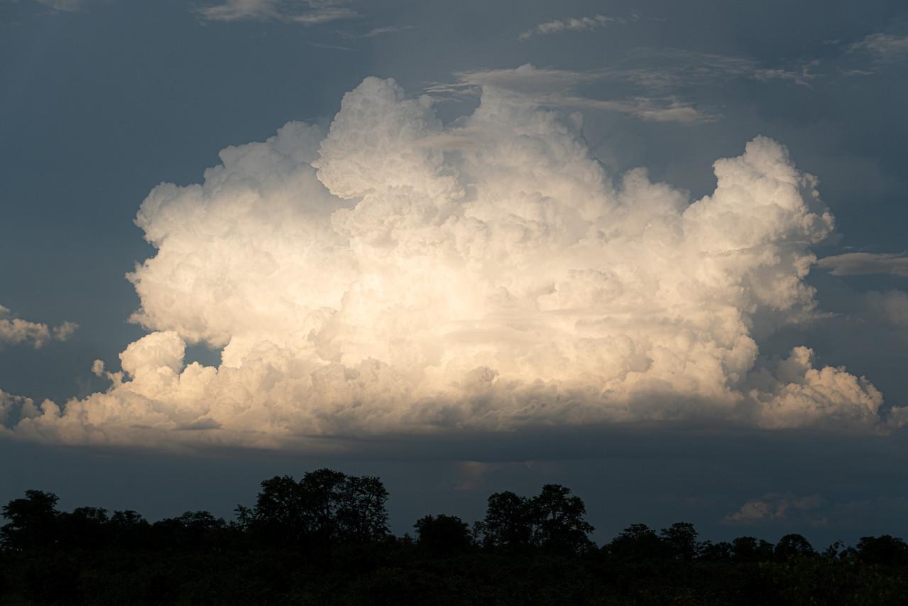 Cumulonimbus Cloud Catching Last Light