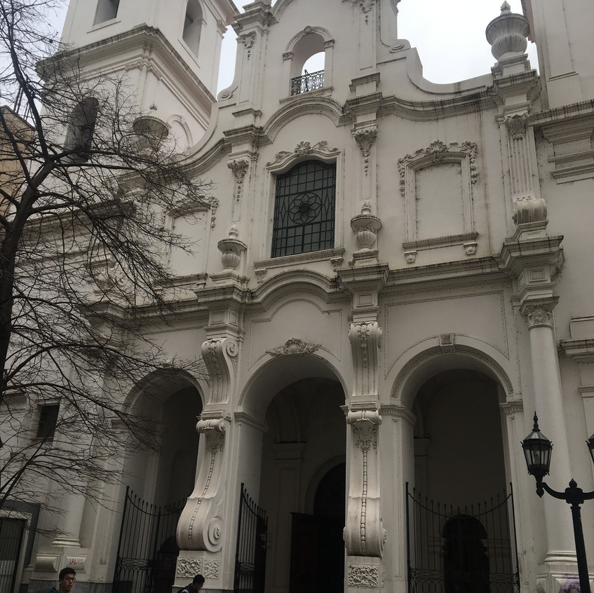Igreja Católica Basílica de San Francisco em Buenos Aires, Argentina.