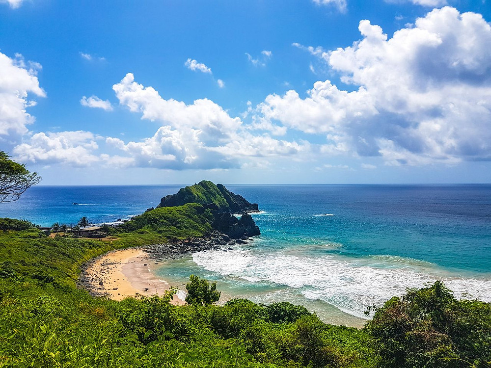 Viaje com pouco - Fernando de Noronha - Praia do Meio