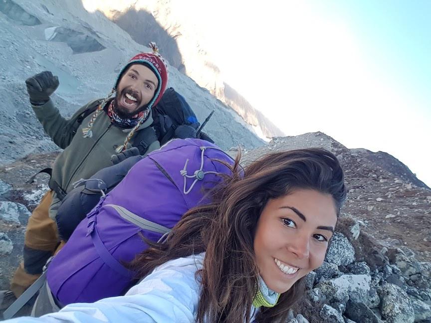 Cruzando a geleira do himalaia - nepal