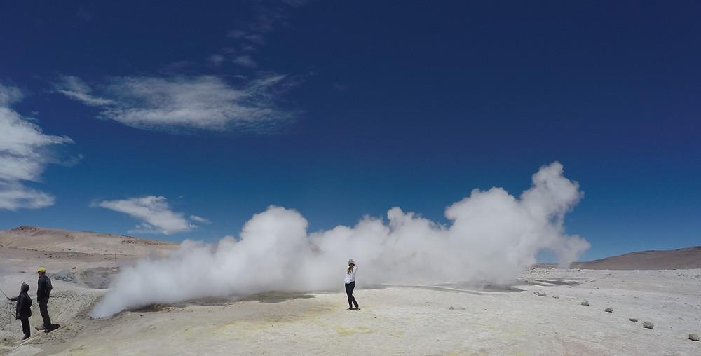 Géiseres Sol de Mañana - Deserto do Atacama - viaje com pouco