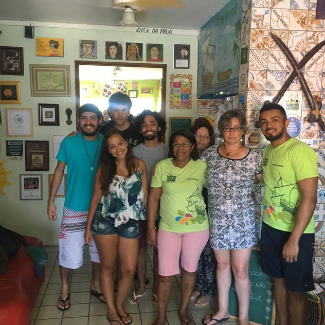 Equipe muito atenciosa no Piratas da Praia Hostel em Recife