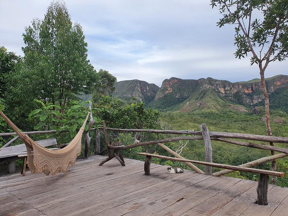 chapada dos veadeiros; hospedagem; natureza; montanhas; rede; relaxamento