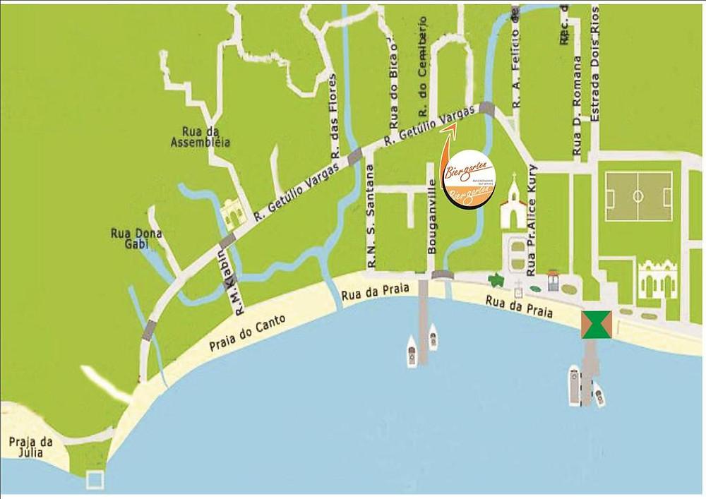 Viaje com pouco - Biergarten Hostel Ilha Grande