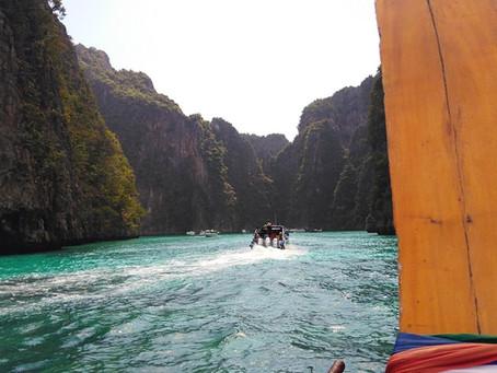 Maya Bay, Pileh Lagoon, Shark view e praia dos macacos - Tailândia